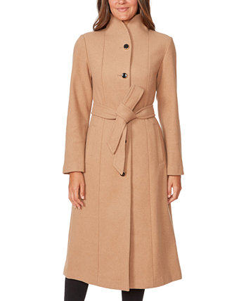 Belted Stand-Collar Maxi Coat Kate Spade New York