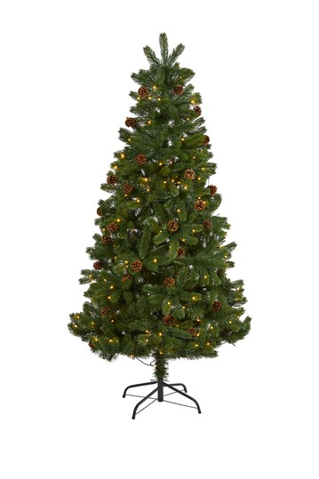 6ft. Rock Mountain Spruce Artificial Christmas Tree NEARLY NATURAL