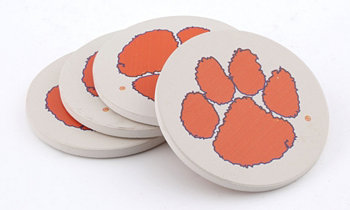 Clemson University Coasters, Set of 4 THIRSTYSTONE