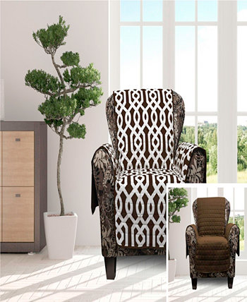 """Ashmont 69"""" x 75"""" Home Reversible Water-resistant  Chair Cover Duck River Textile"""