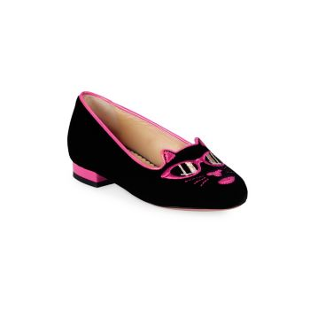 Kid's Incy Pretty Kitty Loafers Charlotte Olympia