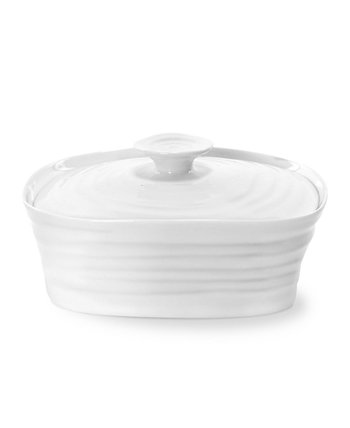 """""""Sophie Conran"""" White Covered Butter Dish, 6"""" X 4.75"""" Portmeirion"""