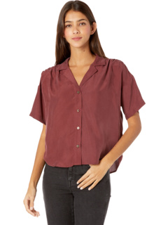 Camp Top in Solid Habotai Silk Madewell