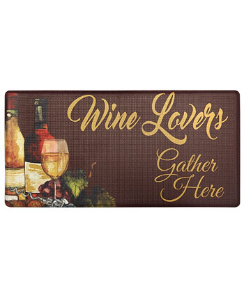 """Nicole Miller Cook N Comfort """"Wine Lovers"""" Cushioned Anti-Fatigue Kitchen Mat Home Dynamix"""