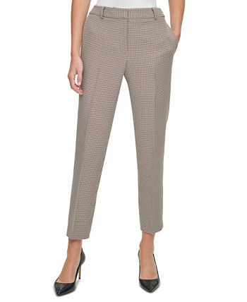 Houndstooth Ankle-Length Pants DKNY