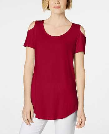 Cold-Shoulder Swing T-Shirt, Created for Macy's J&M Collection