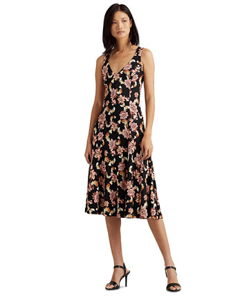 Sleeveless Fit-And-Flare Dress Ralph Lauren
