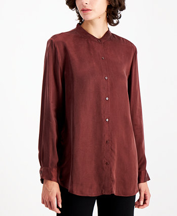 Mandarin-Collar Blouse Eileen Fisher