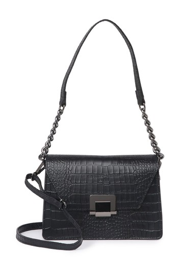 Lya Chain Strap Croc Embossed Leather Bag CHRISTIAN LAURIER