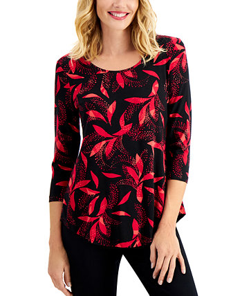 Printed Top, Created for Macy's J&M Collection