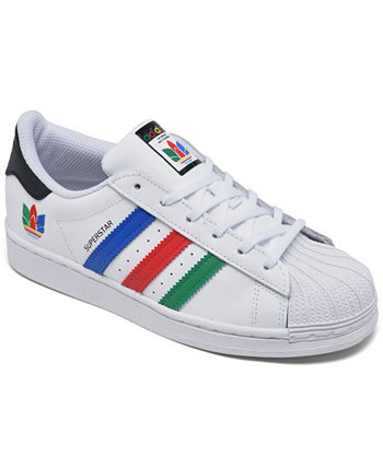 Little Boys Superstar Casual Sneakers from Finish Line Adidas