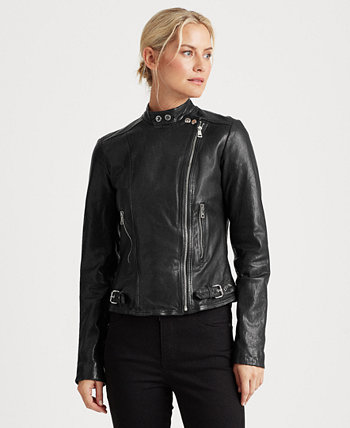 Leather Moto Jacket Ralph Lauren