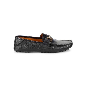 Fold Back Bit Leather Loafers Saks Fifth Avenue