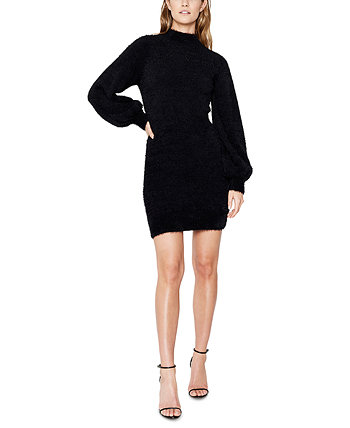 Balloon-Sleeve Sweater Dress Bardot
