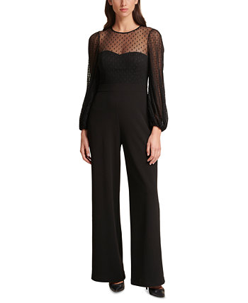Dotted Illusion-Top Jumpsuit Eliza J