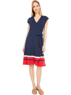 Madison Wrap Dress with Snap and VELCRO® BRAND Closure Tommy Hilfiger Adaptive