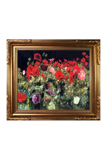 """Poppies with Florentine Gold Frame , 27"""" x 31"""" No brands"""