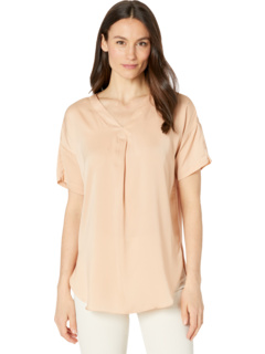 Stevie Top in Light Satin and Jersey Lysse