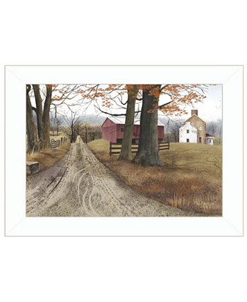 "The Road Home by Billy Jacobs, Ready to hang Framed Print, White Frame, 21"" x 15"" Trendy Décor 4U"