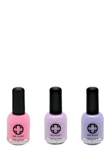 3-Piece Nail Polish Set - Spa Treatment Glamour Status