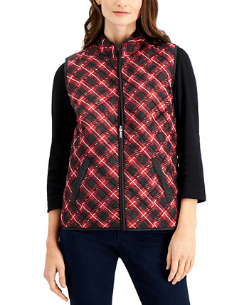 Petite Quilted Plaid Vest, Created for Macy's Karen Scott