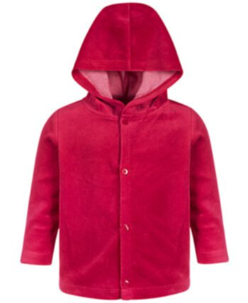 Baby Boys & Girls Hooded Velour Jacket, Created for Macy's First Impressions