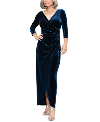 Velvet Surplice Gown Alex Evenings