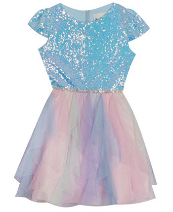 Little  Girl Glitter Cascade Dress Rare Editions