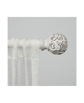 """Vine 1"""" Window Curtain Rod and Finial Set, Adjustable 36""""-72"""""""" Exclusive Home"""