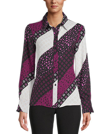 Printed Button-Down Blouse, Created for Macy's Bar III