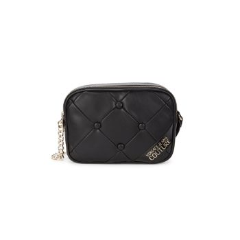 Quilted Logo Crossbody Bag Versace Jeans Couture