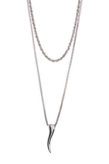 Delicate Tiered Horn Necklace  Abound
