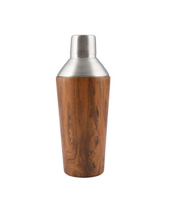 Double Wall Shaker with Wood Decal THIRSTYSTONE