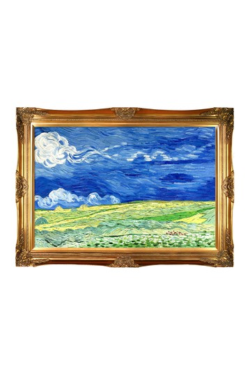 Wheatfield Under Thunderclouds Framed Reproduction Oil Painting No brands