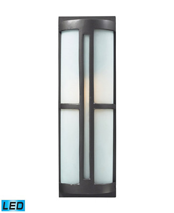 1- Light Outdoor Sconce in Graphite - LED Offering Up To 800 Lumens (60 Watt Equivalent) with Full Range ELK Lighting