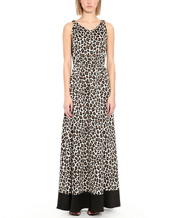 Embellished Animal-Print Maxi Dress Michael Kors