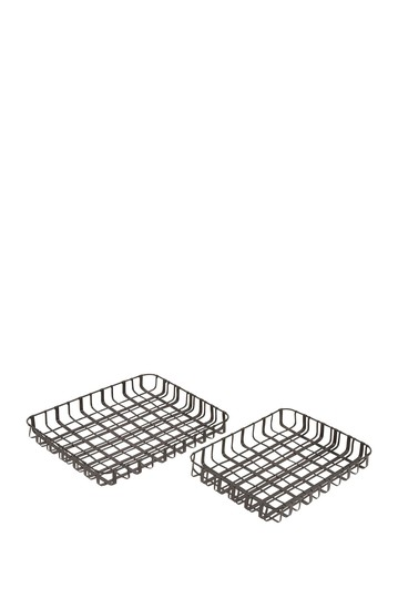 Metal Tray - Set of 2 Willow Row