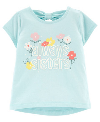 Toddler Girls Sisters Jersey Tee Carters