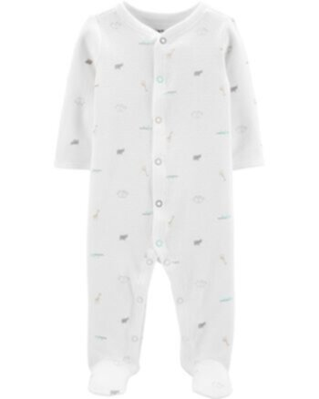 Carter's Animal Print Snap-Up Thermal Sleep & Play Carters