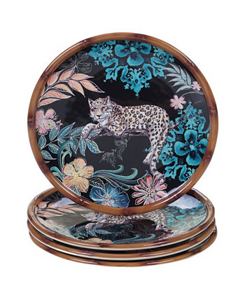Exotic Jungle 4-Pc. Salad Plates Certified International