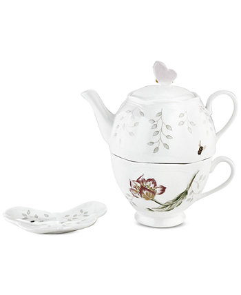 Butterfly Meadow Stackable Tea Set with Bag Holder Lenox