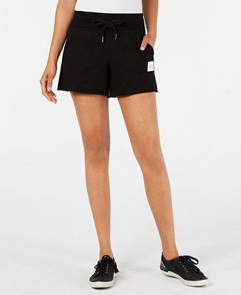 Ribbed-Waist Raw-Hem Shorts Calvin Klein