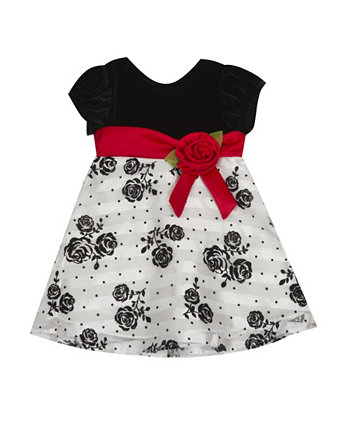 Baby Girls Flocking Dress Rare Editions