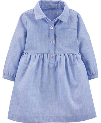 Baby Girls Chambray Woven Dress Carters