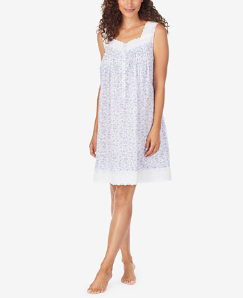 Cotton Daisy-Print Nightgown Eileen West