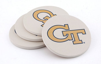 Georgia Tech Coasters, Set of 4 THIRSTYSTONE