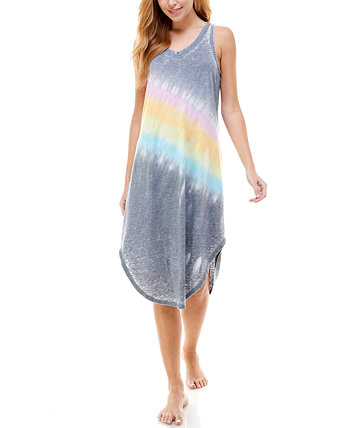 Tie-Dyed Sleeveless Nightgown Roudelain