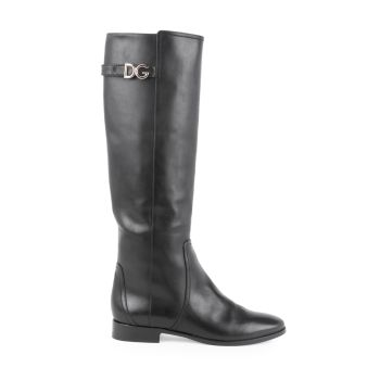 Tall Leather Boots Dolce & Gabbana