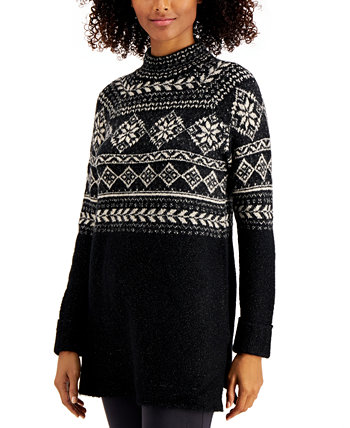 Fair-Isle Tunic Sweater, Created for Macy's Style & Co