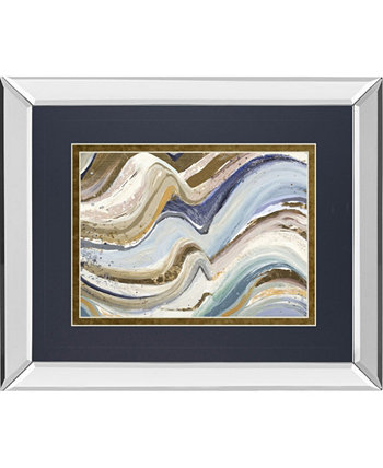"""Earth Tone New Concept by Patricia Pinto Mirror Framed Print Wall Art - 34"""" x 40"""" Classy Art"""